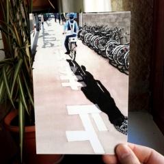 """carte postale imprimée offset """"policeman"""" - 3€"""