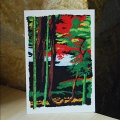 "carte postale ""promenade du philosophe, Kyoto"" - épuisé"