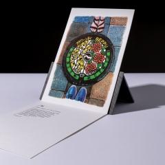 """carte sérigraphiée """"plaque d'égout à Beppu"""" - 7€"""