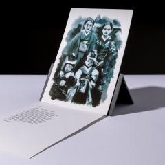 """carte sérigraphiée """"famille Naruse, Nagoya"""" - 7€"""