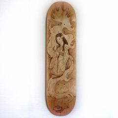 "skate pyrogravé ""Ao Aondon"" - 250€"