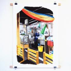 """tirage numérique grand format """"marché de Tsukiji"""""""
